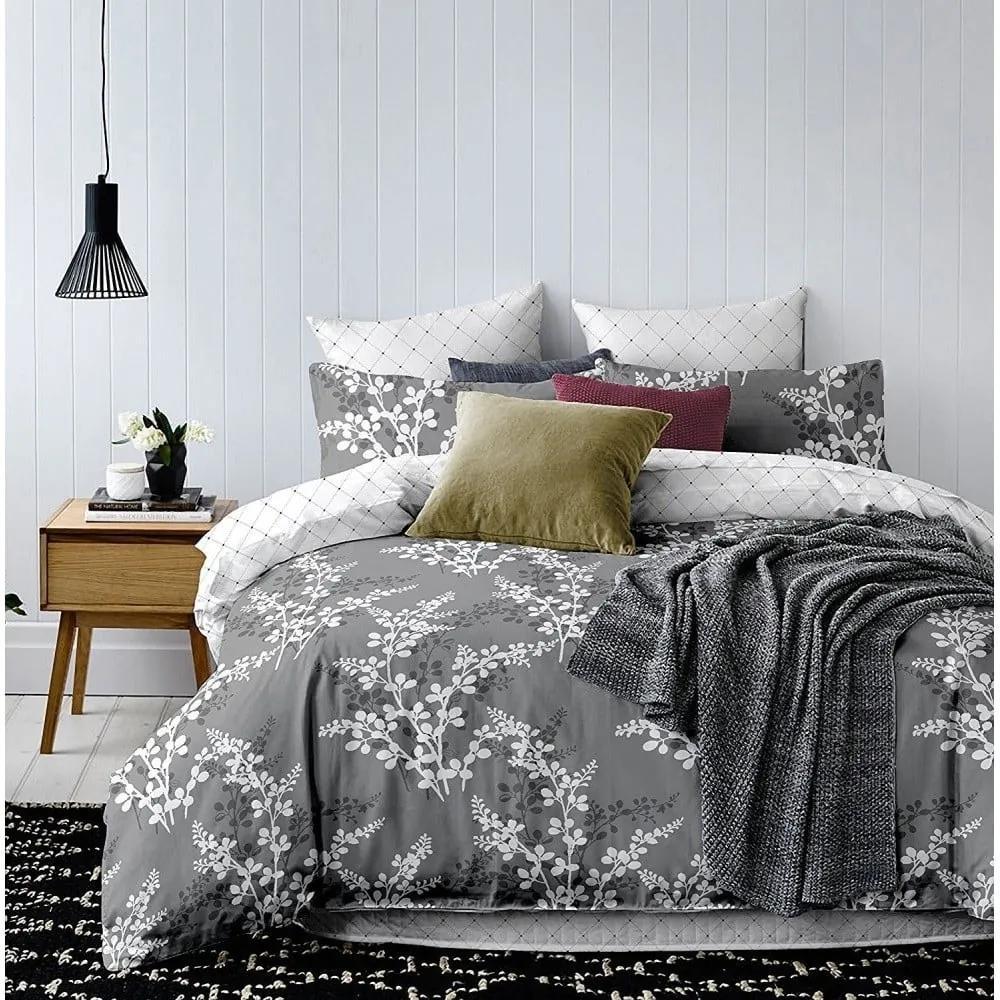 Lenjerie de pat din microfibră DecoKing Calluna, 135 x 200 cm, gri