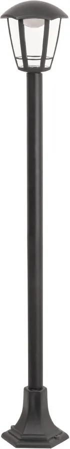 Rábalux Sorrento 8129 Stalpi și lampadare de exterior negru mat transparent LED 8W 100 x 16,5 x 16,5 cm