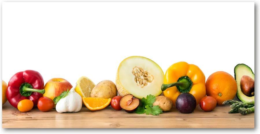 Tablou din Sticlă Fructe si legume
