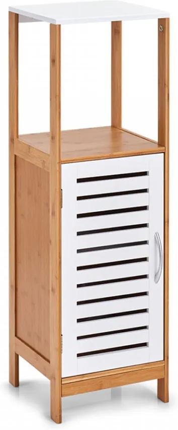Dulapior maro/alb din lemn si MDF Bathroom Cabinet Bamboo Zeller