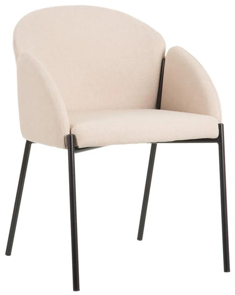 Scaun dining din textil bej Beige Chair