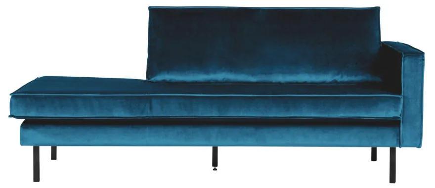 Sofa sezlong/Daybed din catifea Rodeo Right Velvet Blue