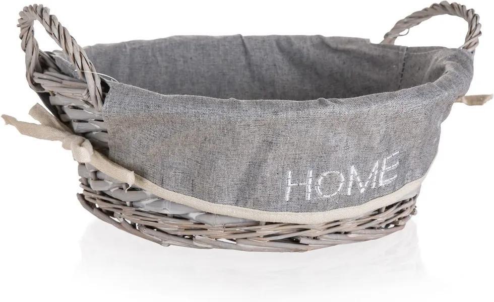 Coș  cu mânere împletit Home Decor Home, 30 x 10,5 cm