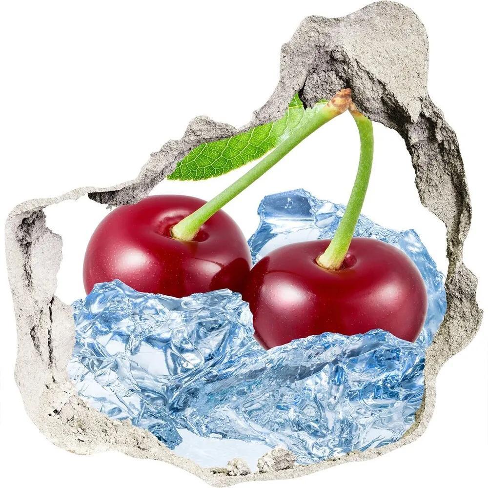Fototapet un zid spart cu priveliște Cherry gheață