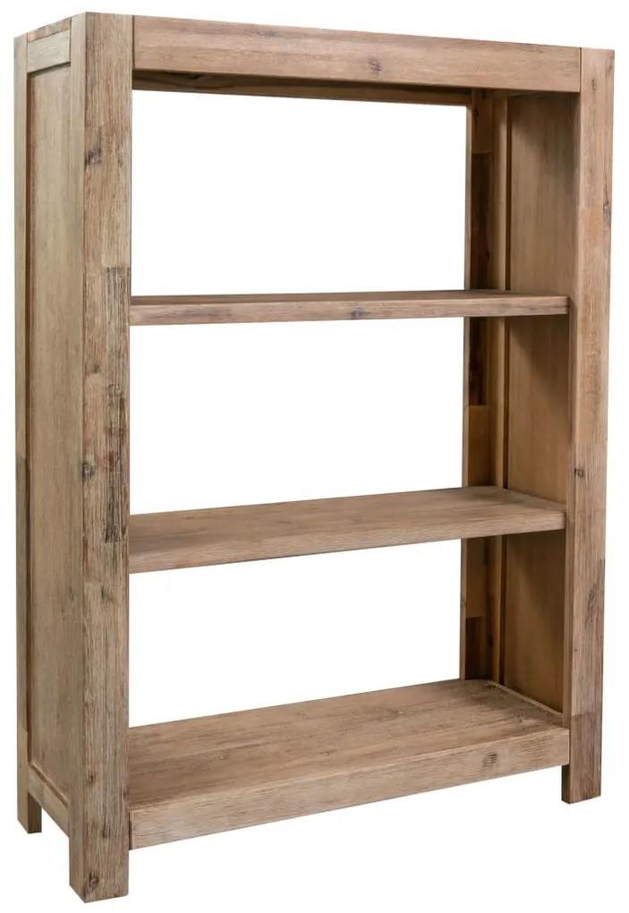 245681 vidaXL Bibliotecă cu 3 rafturi, 80x30x110 cm, lemn masiv de acacia
