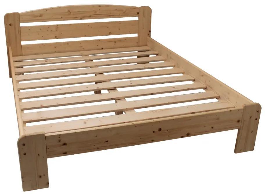 Pat din lemn  Moris 2, 160x200 Cm Lac
