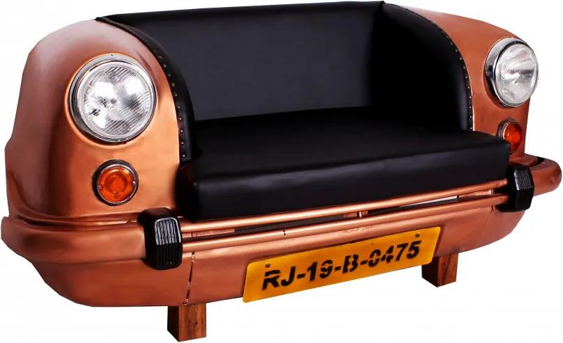 Canapea THIS&THAT, fata auto reciclata, bronz