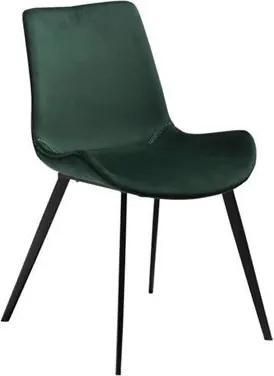 Scaun dining verde din catifea Hype Emerald Green Dan Form