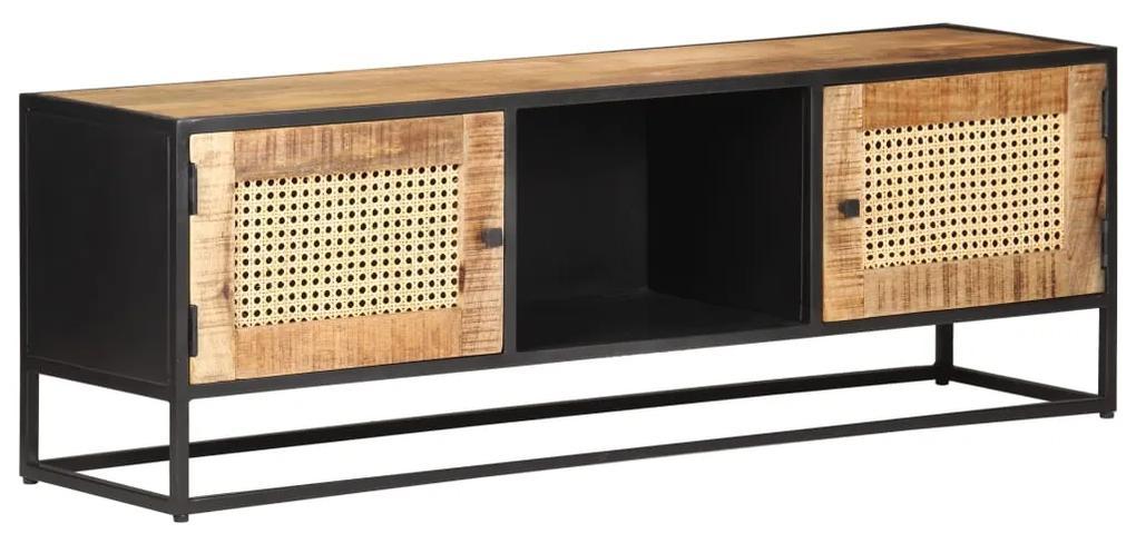 323142 vidaXL Comodă TV, 120x30x40 cm, lemn mango & trestie de zahăr naturală