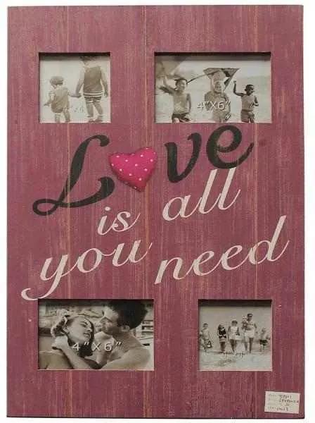 Rama foto Love is all You Need, Lemn, 50x35 cm