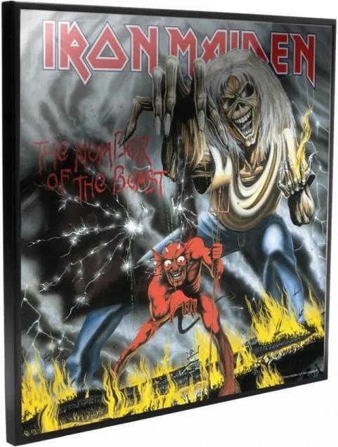 Tablou MDF imagine super clara Iron Maiden - Number of the Beast 32 cm