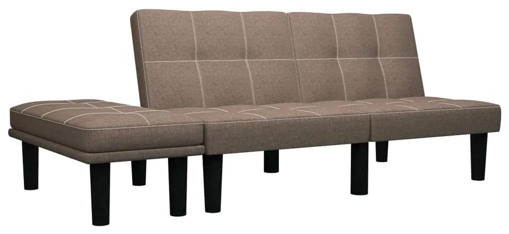 284751 vidaXL Canapea pentru 2 persoane, maro, material textil