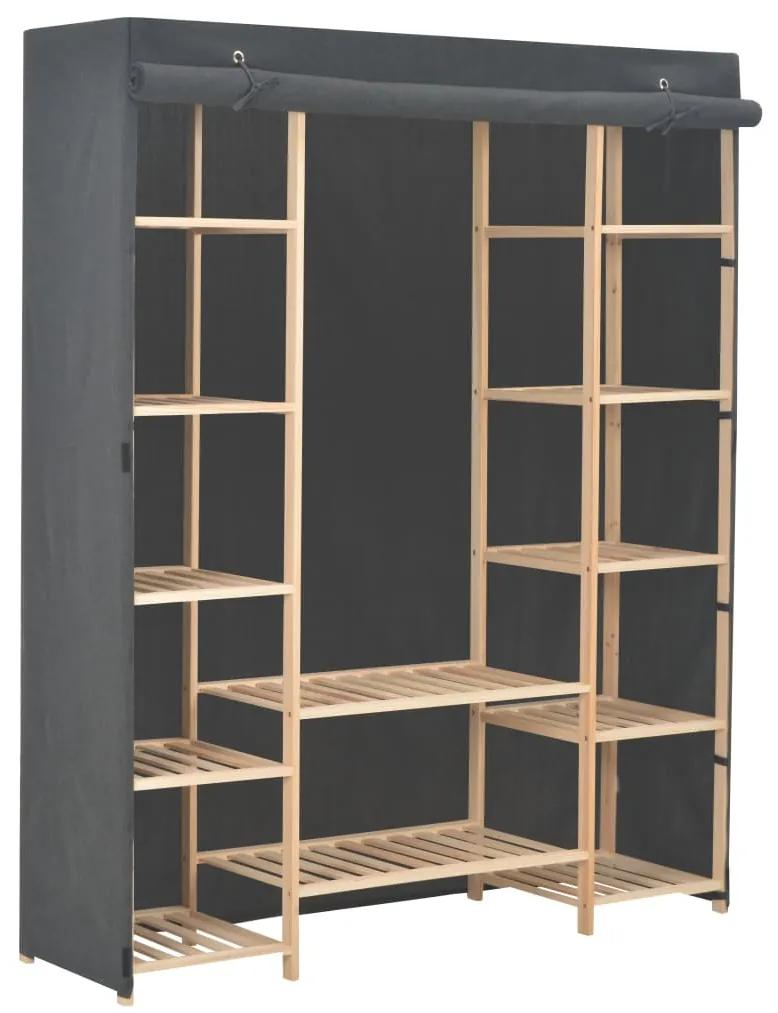 248197 vidaXL Șifonier, gri, 135 x 40 x 170 cm, material textil