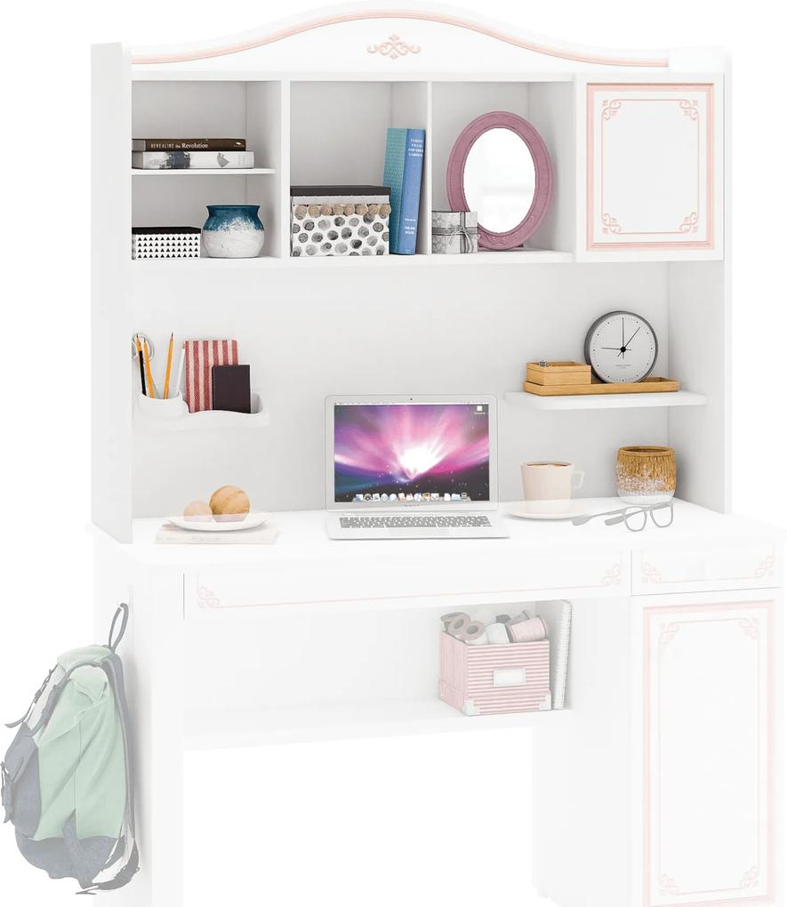 Biblioteca pentru birou din PAL  Selena Pink 117x102x28 cm