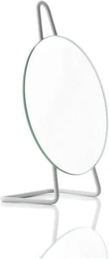Oglindă cosmetică pentru masă Zone A-Mirror Soft Grey, ø 31 cm, gri