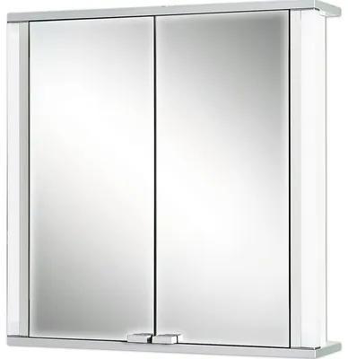 Dulap cu oglinda Jokey Marno, cu iluminare, 65x66 cm, alb, IP 20