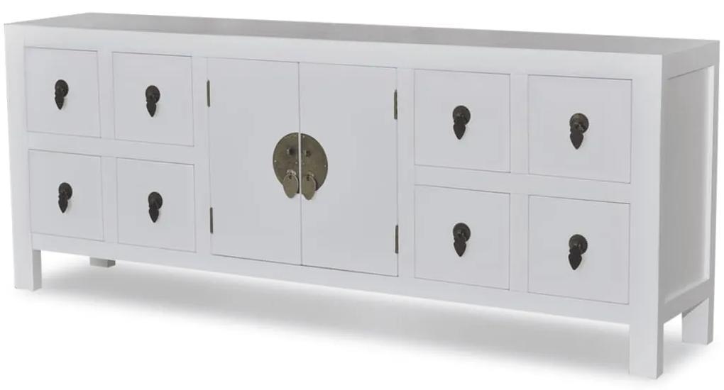 241733 vidaXL Bufet din lemn, în stil asiatic, cu 8 sertare și 2 uși
