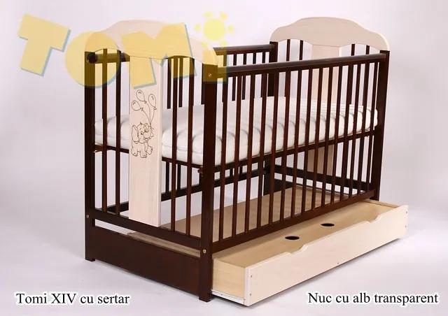 Patut din lemn cu sertar TOMI XIV color
