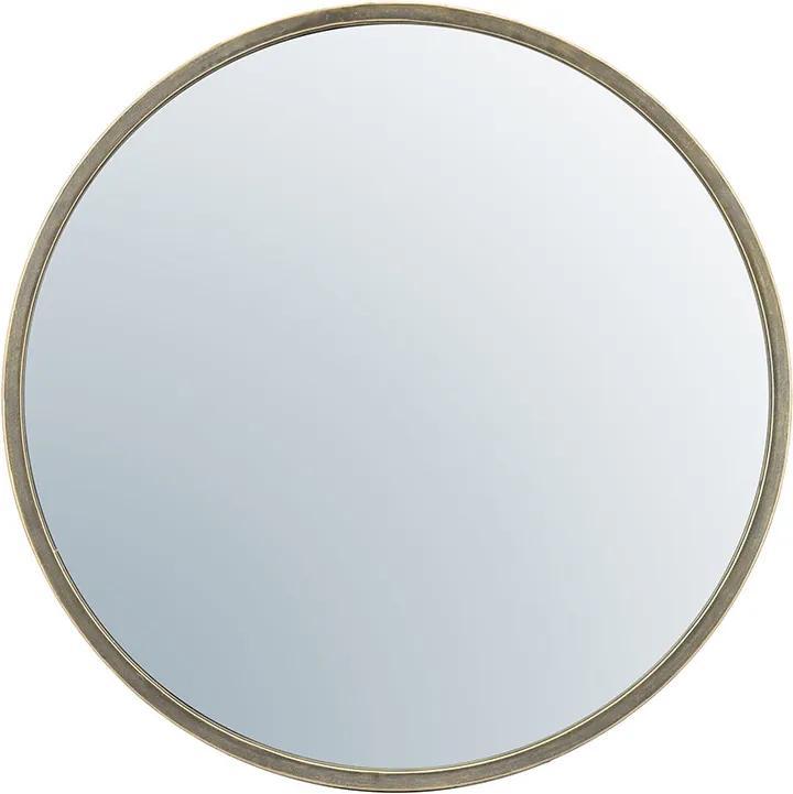 Oglinda rotunda cu rama aurie Selfie, 80 x 5 x 80 cm