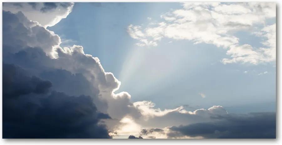 Tablou Printat Pe Sticlă Nori pe cer