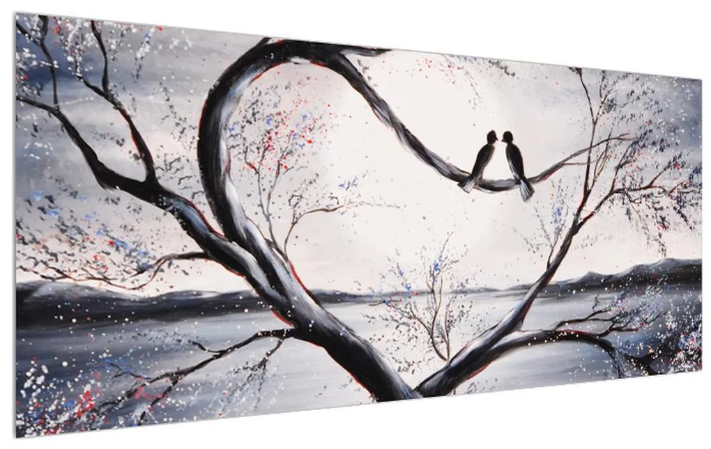 Tablou cu păsări îndrăgostite (K012516K12050)