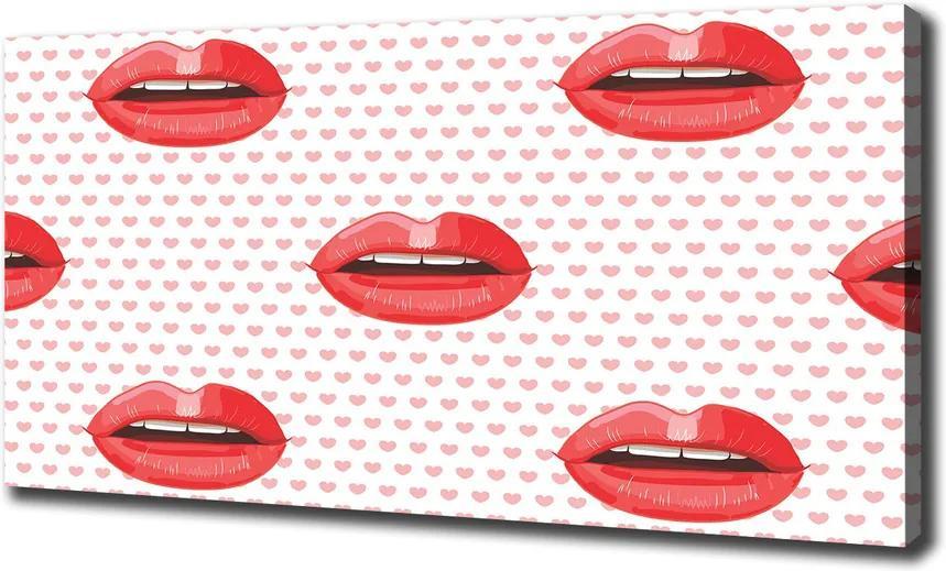 Tablou pe pânză canvas Buze rosii