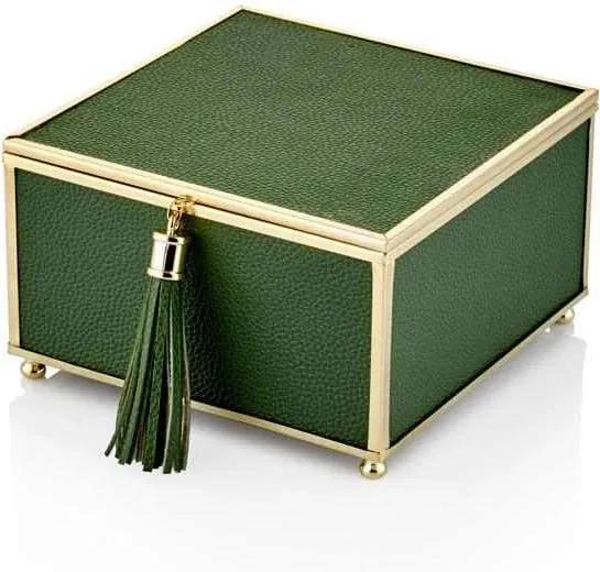 Cutie pentru Bijuterii Verde 15x16x9 cm