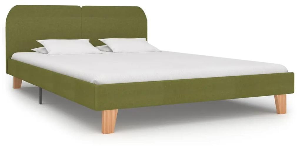 280884 vidaXL Cadru de pat, verde, 160 x 200 cm, material textil