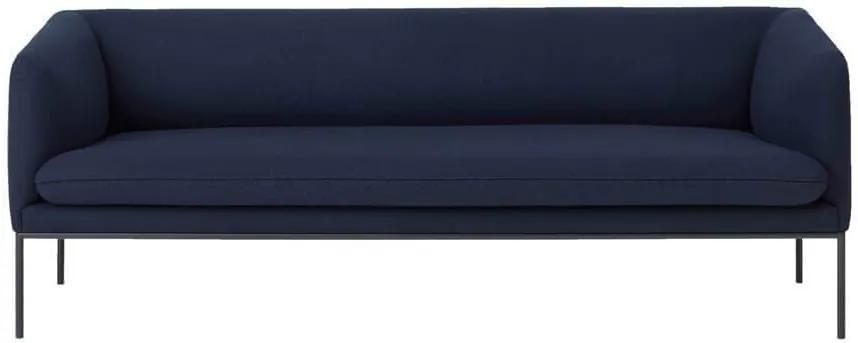 Canapea Turn 3 din Lana Albastru Inchis - Lana Albastru Lungime(200 cm) Inaltime(73.5 cm) x Latime(75.5 cm)
