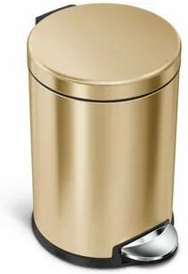 Simplehuman coș de gunoi cu pedală, rotund 4,5 l, cupru