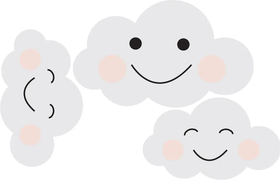 Autocolant pentru perete Dekornik Clouds Smile