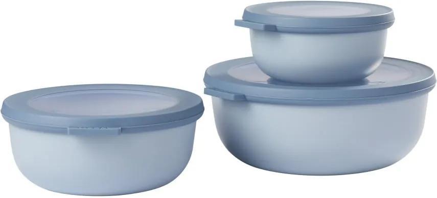 Set 3 cutii pentru gustări Rosti Mepal Cirqula, albastru