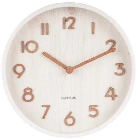 Ceas de perete design Karlsson 5808WH diam. 22 cm