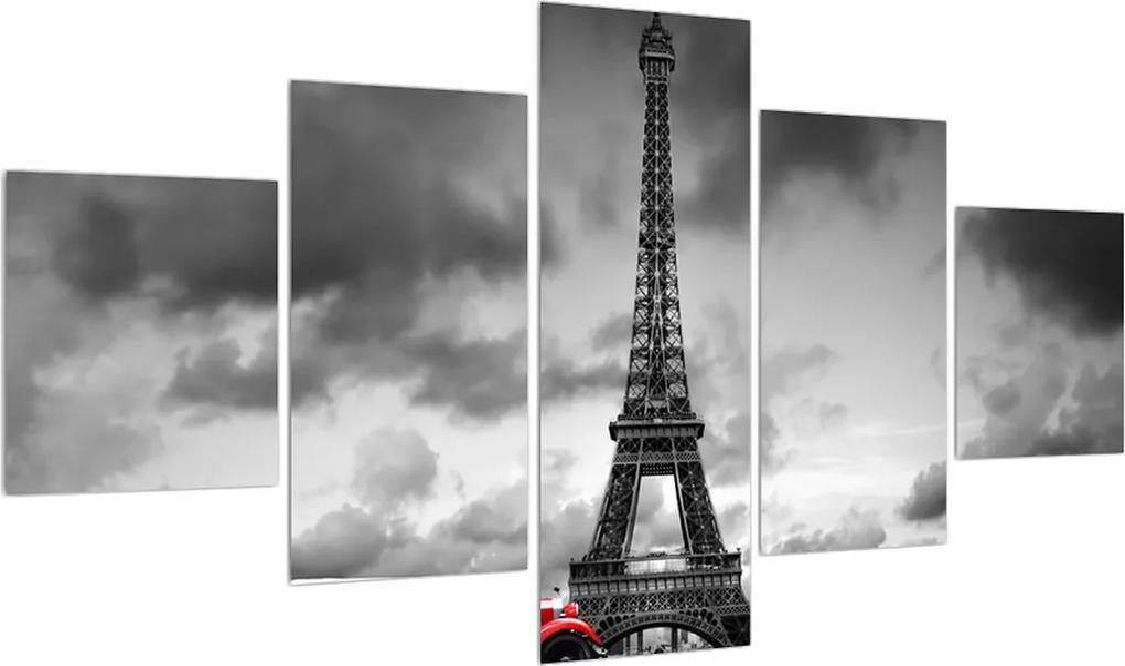Tablou cu turnul Eiffel și mașina roșie (K012082K12570)