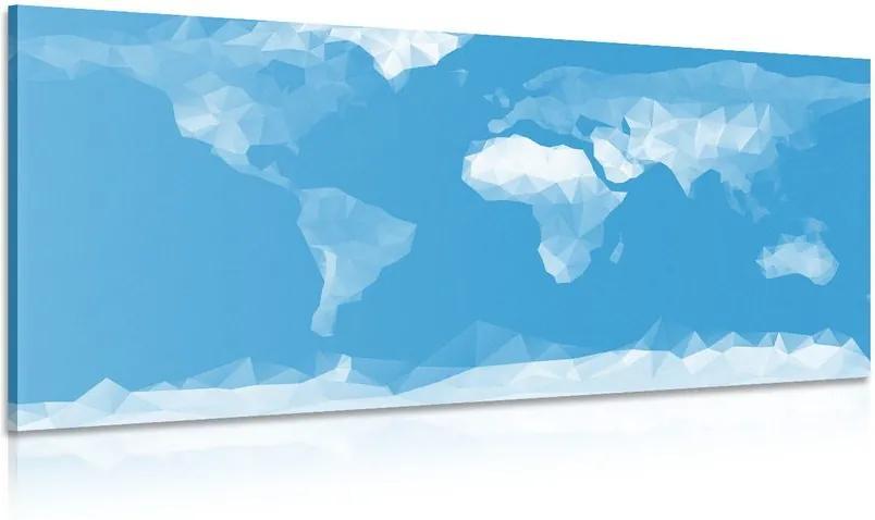 Tablou harta lumii în stil poligonal