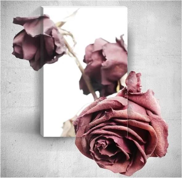 Tablou de perete 3D Mosticx Old Roses, 40 x 60 cm