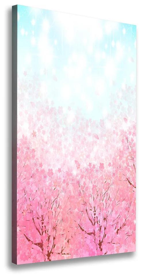 Pictură pe pânză Flori de cireș