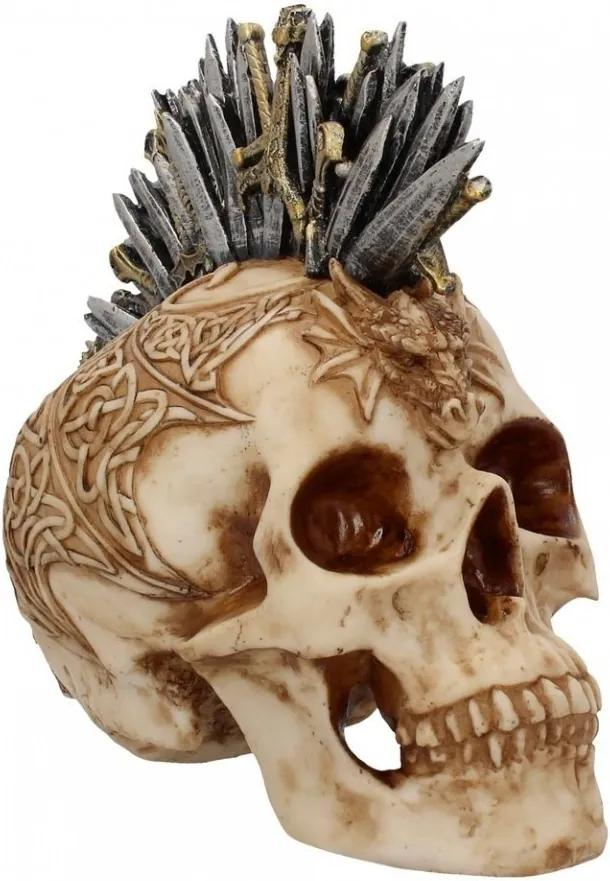 Statueta craniu Creasta de sabii 23.5 cm