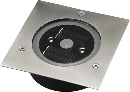 Spot solar incastrabil cu LED Carlo 3x0,2W 120x120 mm, pentru exterior IP65, otel inoxidabil