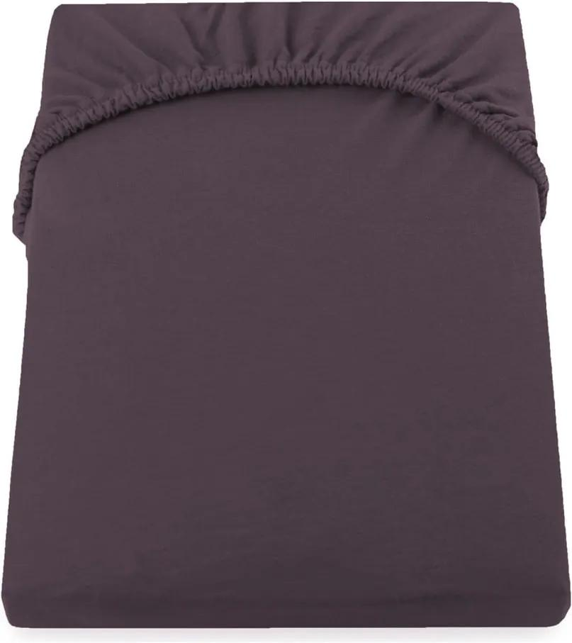 Cearșaf de pat cu elastic DecoKing Nephrite, 140–160 cm, maro