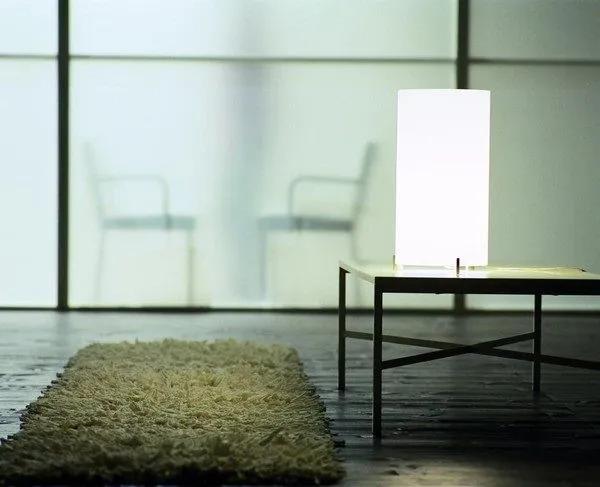 Cpl Small T1 - Lămpă de masă cu abajur alb din sticlă