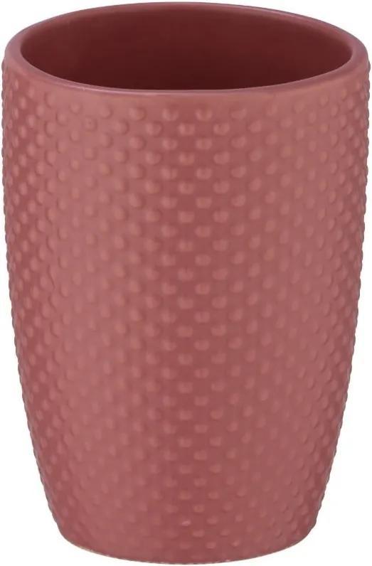 Suport din ceramică pentru periuțele de dinți Wenko Punto, cărămiziu