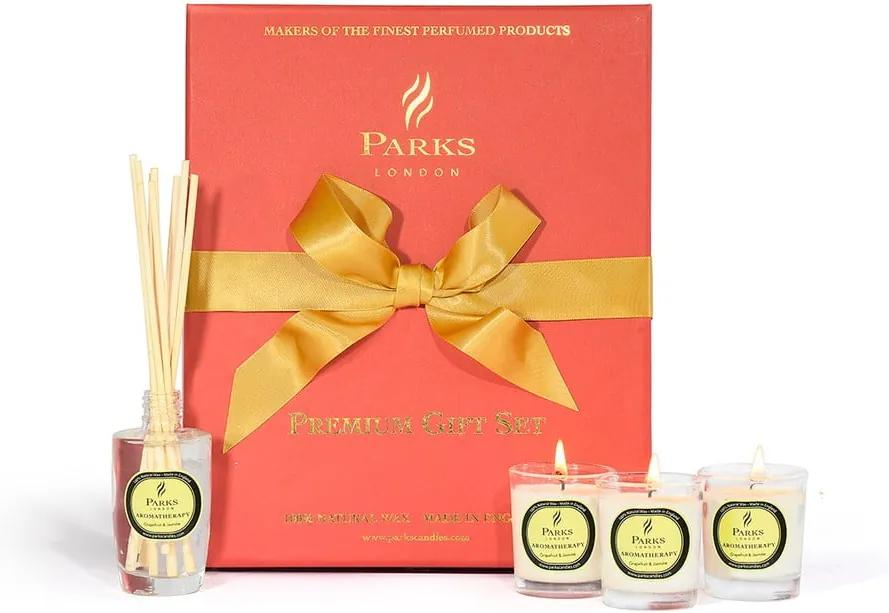 Set cadou Parks Candles London, aromă de grapefruit și iasomie