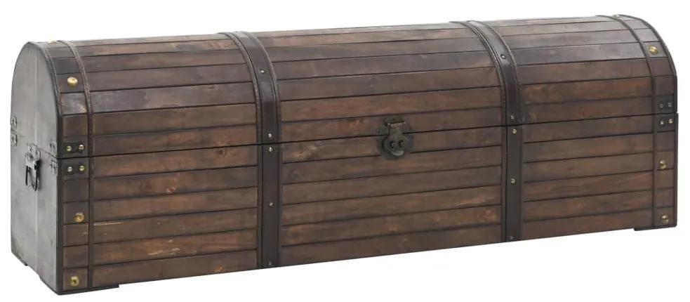 245801 vidaXL Cufăr de depozitare, lemn masiv, stil vintage 120 x 30 x 40 cm