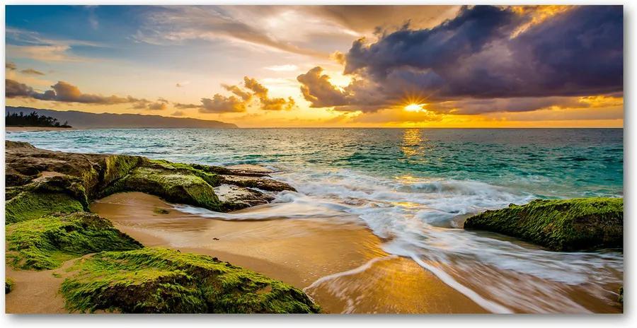 Tablou acrilic Apus de soare pe mare