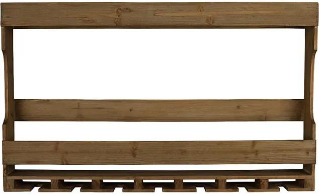 Raft din lemn pentru sticle si pahare Tres Dutchbone