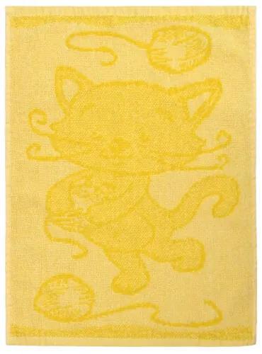 Prosop copii Cat yellow, 30 x 50 cm