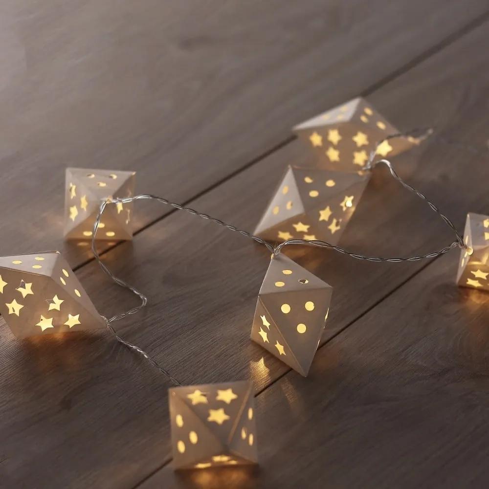 Ghirlandă luminoasă cu LED DecoKing Triangles, lungime 1,65 m, 10 beculețe