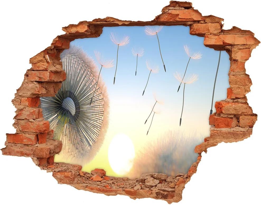 Autocolant un zid spart cu priveliște Păpădie