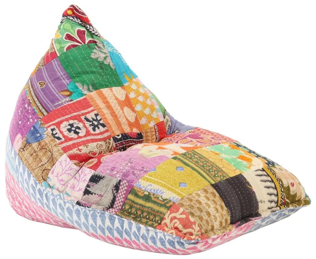 287727 vidaXL Canapea tip sac, multicolor, material textil, petice